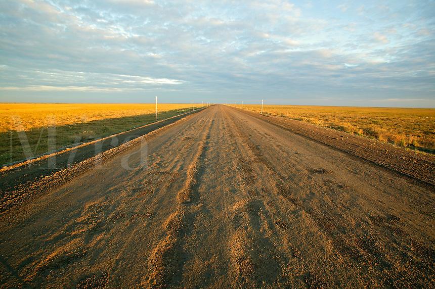 The Dalton Highway crosses the arctic tundra on the costal plain, Alaska