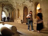 Arcade of old building in Mantova