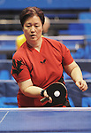 November 14 2011 - Guadalajara, Mexico: Analia Longhi during her Table Tennis match at the 2011 Parapan American Games in Guadalajara, Mexico.  Photos: Matthew Murnaghan/Canadian Paralympic Committee