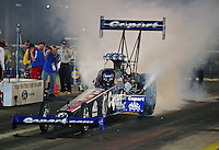 Jun. 17, 2011; Bristol, TN, USA: NHRA top fuel driver Brandon Bernstein during qualifying for the Thunder Valley Nationals at Bristol Dragway. Mandatory Credit: Mark J. Rebilas-
