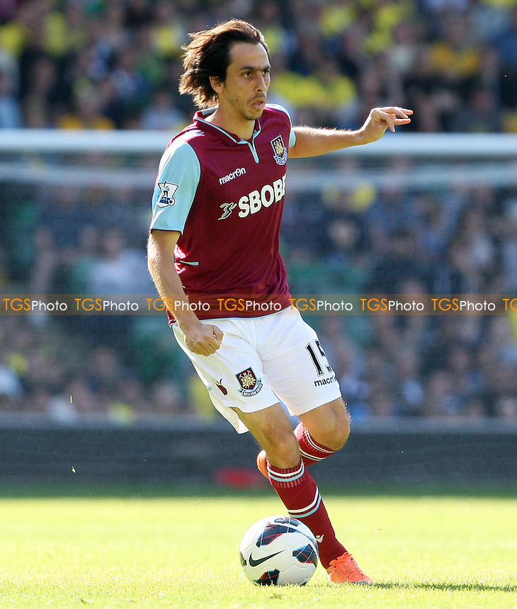 Yossi Benayoun of West Ham - Norwich City vs West Ham United, Barclays Premier League at Carrow Road, Norwich - 15/09/12 - MANDATORY CREDIT: Rob Newell/TGSPHOTO - Self billing applies where appropriate - 0845 094 6026 - contact@tgsphoto.co.uk - NO UNPAID USE.