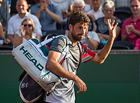 The Hague, Netherlands, 18 July, 2017, Tennis,  The Hague Open, Robin Haase (NED) waves to the crowd after being defeated by Thiemo de Bakker (NED)<br /> Photo: Henk Koster/tennisimages.com