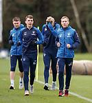 30.11.2018 Rangers training: Ryan Jack and Scott Arfield