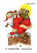 GIORDANO, CHRISTMAS SANTA, SNOWMAN, WEIHNACHTSMÄNNER, SCHNEEMÄNNER, PAPÁ NOEL, MUÑECOS DE NIEVE, paintings+++++,USGI2163,#X#