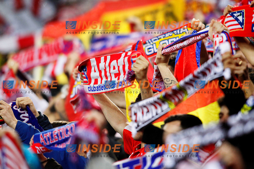 Atletico de Madrid's supporters during Champions League 2015/2016 Quarter-Finals 2nd leg match. April 13,2016. (ALTERPHOTOS/Acero) <br /> Madrid 13/4/2016 Vicente Calderon <br /> Football Calcio 2015/2016<br /> Champions League Quarti di finale <br /> Atletico Madrid - Barcellona <br /> Foto Alterphotos / Insidefoto <br /> ITALY ONLY