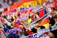 Atletico de Madrid's supporters during Champions League 2015/2016 Quarter-Finals 2nd leg match. April 13,2016. (ALTERPHOTOS/Acero) <br /> Madrid 13/4/2016 Vicente Calderon <br /> Football Calcio 2015/2016<br /> Champions League Quarti di finale <br /> Atletico Madrid - Barcellona <br /> Foto Alterphotos / Insidefoto <br /> ITALY ONLY