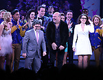 Jeff Richmond, Casey Nicholaw, Tina Fey with cast during the Broadway Opening Night Performance Curtain Call of 'Mean Girls' at the August Wilson Theatre on April 8, 2018 in New York City.