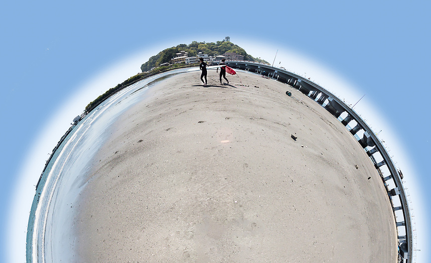 Enoshima Beach Little Planet
