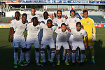 01 June 2016: Charlotte Independence's starters. Front row (from left): Bilal Duckett, Yann Ekra (CIV), Joel Johnson (ESP), Enzo Martinez (URU), David Estrada. Back row (from left): Brian Brown (JAM), Patrick Slogic, Henry Kalungi, Jun Marques Davidson (JPN), Caleb Calvert, Cody Mizell. The Carolina RailHawks hosted the Charlotte Independence at WakeMed Stadium in Cary, North Carolina in a 2016 Lamar Hunt U.S. Open Cup third round game. The RailHawks won 5-0 after extra time after regulation ended in a 0-0 tie.