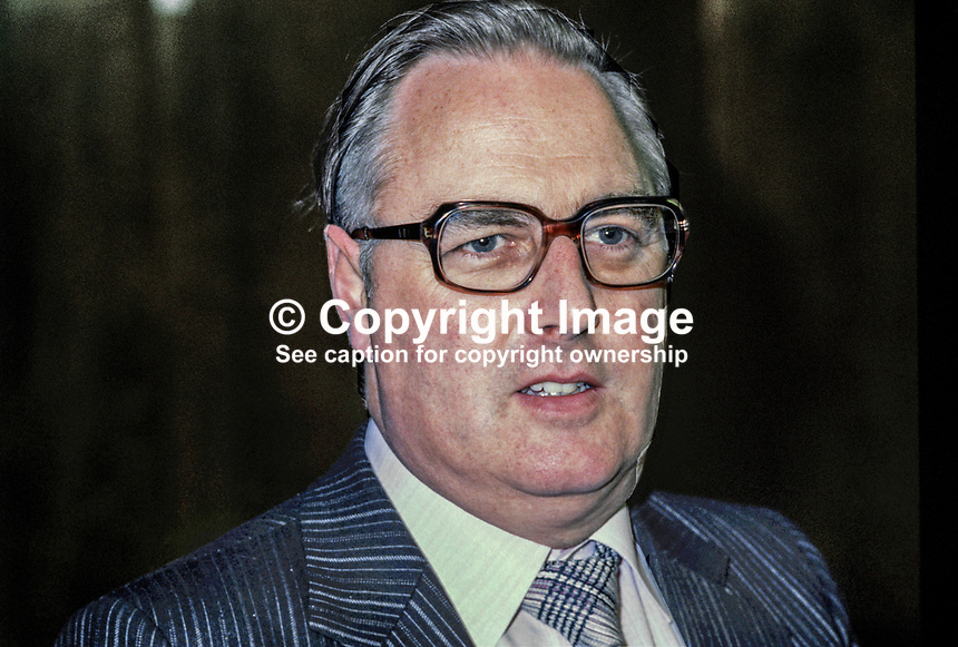 Edward McGrady, SDLP, Social Democratic &amp; Labour Party, Housing &amp; Environment spokesman, N Ireland, UK, 198011000339b.<br /> <br /> Copyright Image from Victor Patterson, 54 Dorchester Park, Belfast, UK, BT9 6RJ<br /> <br /> t1: +44 28 9066 1296<br /> t2: +44 28 9002 2446<br /> m: +44 7802 353836<br /> <br /> e1: victorpatterson@me.com<br /> e2: victorpatterson@gmail.com<br /> <br /> www.victorpatterson.com<br /> <br /> IMPORTANT: Please see my Terms and Conditions of Use at www.victorpatterson.com