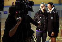 14.07.2014 Katrina Grant and Anna Harrison - at the Silver Ferns train in Auckland ahead of them leaving for the Commonwealth Games. Mandatory Photo Credit ©Michael Bradley.