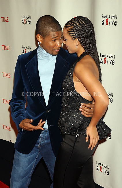 WWW.ACEPIXS.COM . . . . . ......November 3 2005, New York City....USHER AND ALICIA KEYS....Arrivals ate the Black Ball annual Fundraiser to benefit 'Keep a Kid Alive', at the Fredrick P Rose Hall.....Please byline: KRISTIN CALLAHAN - ACE PICTURES.. . . . . . ..Ace Pictures, Inc:  ..Philip Vaughan (212) 243-8787 or (646) 769 0430..e-mail: info@acepixs.com..web: http://www.acepixs.com