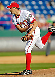 6 March 2007: Washington Nationals pitcher Ryan Wagner on the mound in Grapefruit League play against the Atlanta Braves at Space Coast Stadium in Viera, Florida.<br /> <br /> Mandatory Photo Credit: Ed Wolfstein Photo