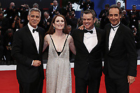 VENICE, ITALY - September 2nd: George Clooney, Julianne Moore, Matt Damon and Alexandre Desplat, attend the red carpet during 74th Venice Film Festival at Palazzo Del Cinema on September 2nd,, 2017 in Venice, Italy. (Mark Cape/insidefoto)
