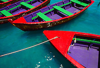 Colorful wooden rowboats, Peuto Rico<br />