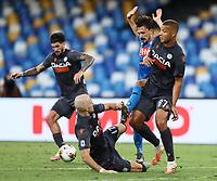 19th July 2020; Stadio San Paolo, Naples, Campania, Italy; Serie A Football, Napoli versus Udinese; Mario Rui of Napoli challenges Sebastien De Maio of Udinese Calcio
