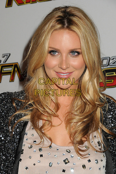 Stephanie Pratt.The 102.7 KIIS FM Jingle Ball 2011 arrivals held at The Nokia Theater Live in Los Angeles, California, USA, December 3rd 2011..headshot portrait beaded beads black silver beige white top grey gray sequined sequins .CAP/ADM/BP.©Byron Purvis/AdMedia/Capital Pictures.