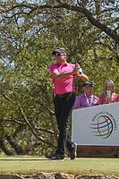 Ian Poulter (GBR) watches his tee shot on 12 during round 1 of the World Golf Championships, Dell Match Play, Austin Country Club, Austin, Texas. 3/21/2018.<br /> Picture: Golffile | Ken Murray<br /> <br /> <br /> All photo usage must carry mandatory copyright credit (&copy; Golffile | Ken Murray)