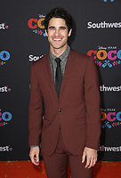 08 November 2017 - Hollywood, California - Darren Criss. Disney Pixar's &quot;Coco&quot; Los Angeles Premiere held at El Capitan Theater. <br /> CAP/ADM/FS<br /> &copy;FS/ADM/Capital Pictures