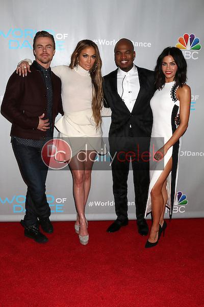 "Derek Hough, Jennifer Lopez, Ne-Yo, Jenna Dewan Tatum<br /> at the ""World of Dance"" Photo Call, Universal Studios, Universal City, CA 01-25-17<br /> David Edwards/DailyCeleb.com 818-249-4998"