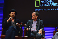 WASHINGTON, DC - JUNE 8: Emmy-nominated film director Michael Bonfiglio and author Carl Pope attend an advanced screening panel discussion of 'From the Ashes' presented by National Geographic and Bloomberg Philanthropies at National Geographic Headquarters on June 8, 2017 in Washington, DC. (Photo by Don Baxter/National Geographic/PictureGroup)