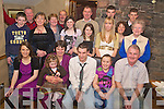 Jeremiah O'Sullivan, Shanacloon, Kilgobet pictured with family and friends as he celebrated his 21st in Beaufort bar on Friday night.......