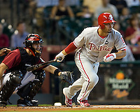 Victorino, Shane 6011.jpg Philadelphia Phillies at Houston Astros. Major League Baseball. September 7th, 2009 at Minute Maid Park in Houston, Texas. Photo by Andrew Woolley.