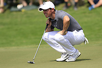 Rory McIlroy (NIR) on the 2nd green during Friday's Round 2 of the 2017 PGA Championship held at Quail Hollow Golf Club, Charlotte, North Carolina, USA. 11th August 2017.<br /> Picture: Eoin Clarke | Golffile<br /> <br /> <br /> All photos usage must carry mandatory copyright credit (&copy; Golffile | Eoin Clarke)