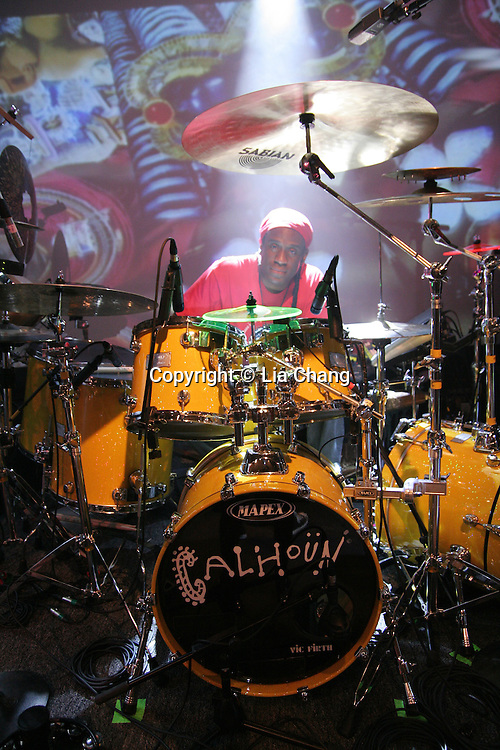 Will Calhoun at the Highline Ballroom in New York on October 30, 2009. © Lia Chang