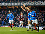 01.12.2019 Rangers v Hearts: Ryan Kent celebrates his goal for Rangers