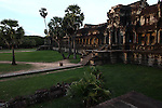 The central temple complex at Angkor Wat, Cambodia. June 8, 2013.