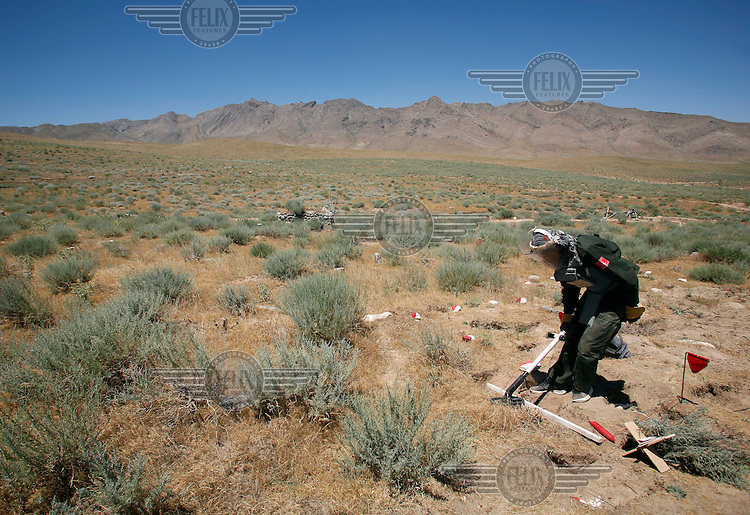 Halo Trust mine clearing in a small village near Bagram. Teams clearing area mainly contaminated with anti personnel mines and some unexploded ordnance. © Fredrik Naumann