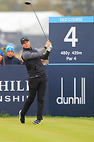 Lucas Bjerregaard (DEN) on the 4th tee during Round 4 of the Alfred Dunhill Links Championship 2019 at St. Andrews Golf CLub, Fife, Scotland. 29/09/2019.<br /> Picture Thos Caffrey / Golffile.ie<br /> <br /> All photo usage must carry mandatory copyright credit (© Golffile | Thos Caffrey)