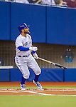 1 April 2016: Toronto Blue Jays outfielder Kevin Pillar in action during a pre-season exhibition series against the Boston Red Sox at Olympic Stadium in Montreal, Quebec, Canada. The Red Sox defeated the Blue Jays 4-2 in the first of two MLB weekend games, which saw an attendance of 52,682 at the former home on the Montreal Expos. Mandatory Credit: Ed Wolfstein Photo *** RAW (NEF) Image File Available ***