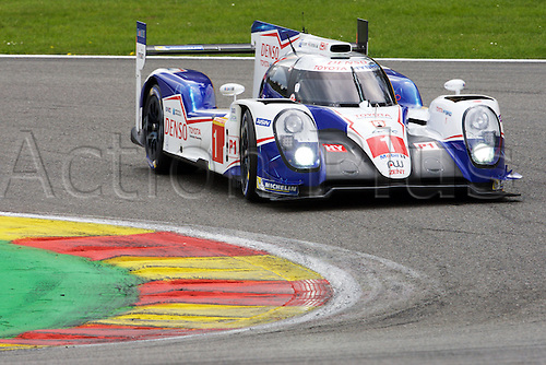 02.05.2015.  Spa-Francorchamps, Belgium. World Endurance Championship Round 2. Toyota Racing LMP1 Hybrid Toyota TS040 driven by Anthony Davidson and Sebastien Buemi.