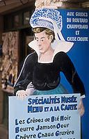 Europe/France/Pays de la Loire/85/Vendée/Ile de Noirmoutier/Noirmoutier-en-l'Ile: Porte-Menu d'un restaurant
