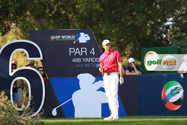 Charl Schwartzel (RSA) on the 16th during the 3rd round of the season ending DP World Tour Championship, Earth Course, Jumeirah Golf Estates, Dubai, UAE.  21/11/2015.<br /> Picture: Golffile | Fran Caffrey<br /> <br /> <br /> All photo usage must carry mandatory copyright credit (&copy; Golffile | Fran Caffrey)