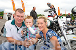 Admiring the bikes at the Ireland Bike Fest at the Gleneagle Hotel, Killarney over the weekend were Patrick and Jack Prendergast and Natalie Herbert, Ballybunnion.
