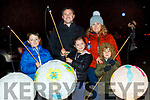 The Brick Family<br /> Ronan, Sophie and Kalum with their parents David and Yvonne at the lantern parade in Listowel on Saturday night.