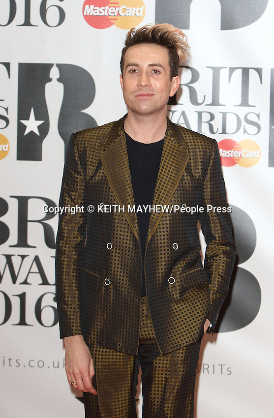 BRIT Awards 2016 Red Carpet Arrivals at the O2 Arena, London on February 24th 2016<br /> <br /> Photo by Keith Mayhew