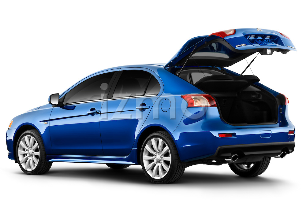 Rear three quarter view of a 2010 Mitsubishi Lancer Sportback