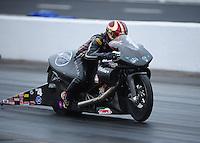 May 13, 2011; Commerce, GA, USA: NHRA pro stock motorcycle rider Matt Smith during qualifying for the Southern Nationals at Atlanta Dragway. Mandatory Credit: Mark J. Rebilas-
