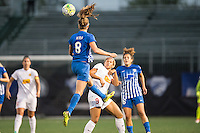 Allston, MA - Wednesday Sept. 07, 2016: Julie King, Lynn Williams during a regular season National Women's Soccer League (NWSL) match between the Boston Breakers and the Western New York Flash at Jordan Field.