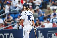 Travis Jankowski. <br /> Acciones del partido de beisbol, Dodgers de Los Angeles contra Padres de San Diego, tercer juego de la Serie en Mexico de las Ligas Mayores del Beisbol, realizado en el estadio de los Sultanes de Monterrey, Mexico el domingo 6 de Mayo 2018.<br /> (Photo: Luis Gutierrez)