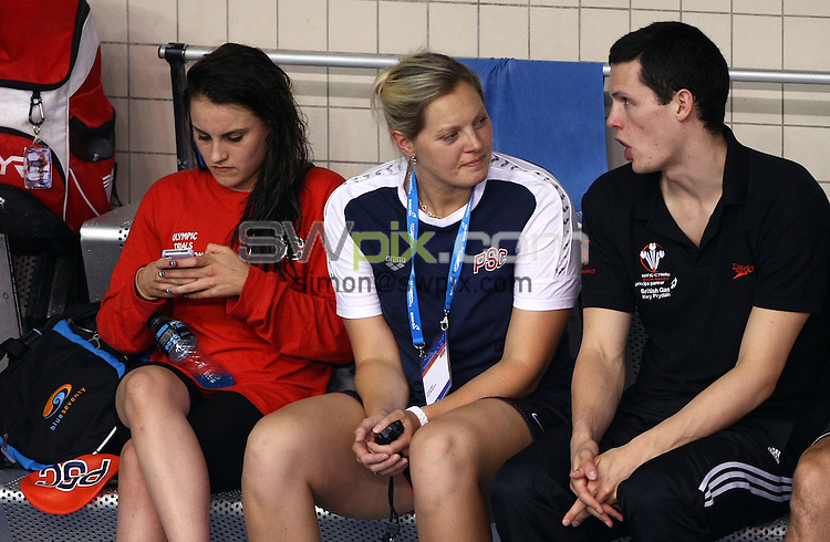 PICTURE BY VAUGHN RIDLEY/SWPIX.COM - Swimming - ASA National Championships 2012 - Ponds Forge, Sheffield, England - 21/06/12 - Preston Coach Louise Graham.