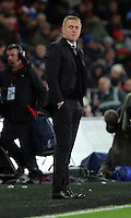 Swansea manager Garry Monk during the Barclays Premier League match between Swansea City and Leicester City at the Liberty Stadium, Swansea on December 05 2015