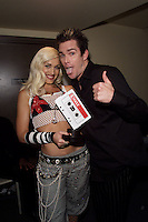 Gwen Stefani and Mark McGrath backstage at the 2001 VH1 Vogue Fashion Awards at Hammerstein Ballroom in New York City, 10/19/01. Photo by Frank Micelotta/ImageDirect.