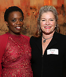 Antoinette Nwandu and Kate Mulgrew attends The Vineyard Theatre's Emerging Artists Luncheon at The National Arts Club on November 9, 2017 in New York City.
