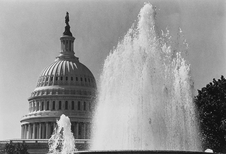 Bennett, Parsons and Frost, designed to duplicate the shape of the Capitol Dome with the fountain on the north side of Capitol Hill.  It began operation in 1932. (Photo by Andrea Mohin/CQ Roll Call via Getty Images)