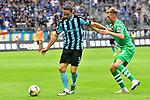 05.08.2019, Carl-Benz-Stadion, Mannheim, GER, 3. Liga, SV Waldhof Mannheim vs. TSV 1860 Muenchen, <br /> <br /> DFL REGULATIONS PROHIBIT ANY USE OF PHOTOGRAPHS AS IMAGE SEQUENCES AND/OR QUASI-VIDEO.<br /> <br /> im Bild: Valmir Sulejmani (SV Waldhof Mannheim #9) gegen Marius Willsch (TSV 1860 Muenchen #25)<br /> <br /> Foto © nordphoto / Fabisch
